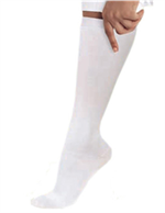 14300 - WHITE Landau Knee High Compression Socks - 1 PR.