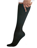 14317 - BLACK Landau Knee High Compression Socks - 1 PR