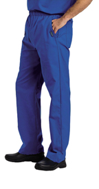 Landau Scrubs 8550 Landau 8550 Mens Elastic Waist Pants - Royal Blue